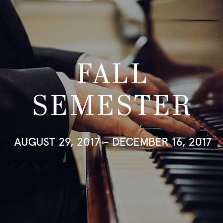 Moon School of Music Fall 17-18 Semester Dates for Piano Lessons