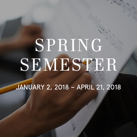 Moon School of Music Spring 17-18 Semester Dates for Piano Lessons